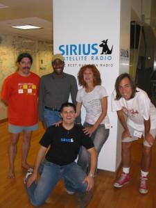 Glenn (barefoot), Shepp, Alan of Sirius, Lisa & Mikel