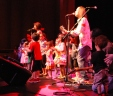 Kids on stage.