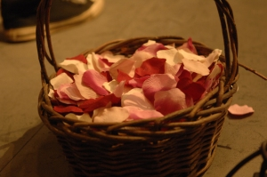 rose petals at the ready.