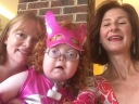 Zoe selfie with her mom and me - (Cool) Progeny's Superhero Social